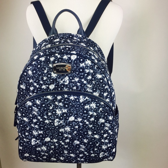 105d2e27c03f Michael Kors Bags | Abbey Large Backpack Blue Floral | Poshmark